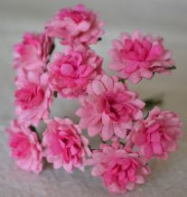 LIGHT PINK PINK CENTER ASTER Daisy (1.3 cm) Mulberry Paper Flowers